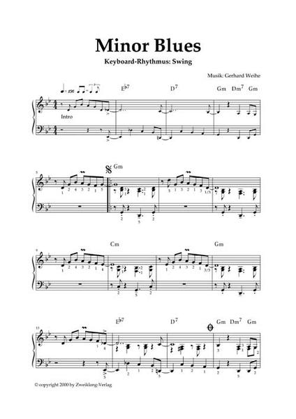 blues klaviernoten