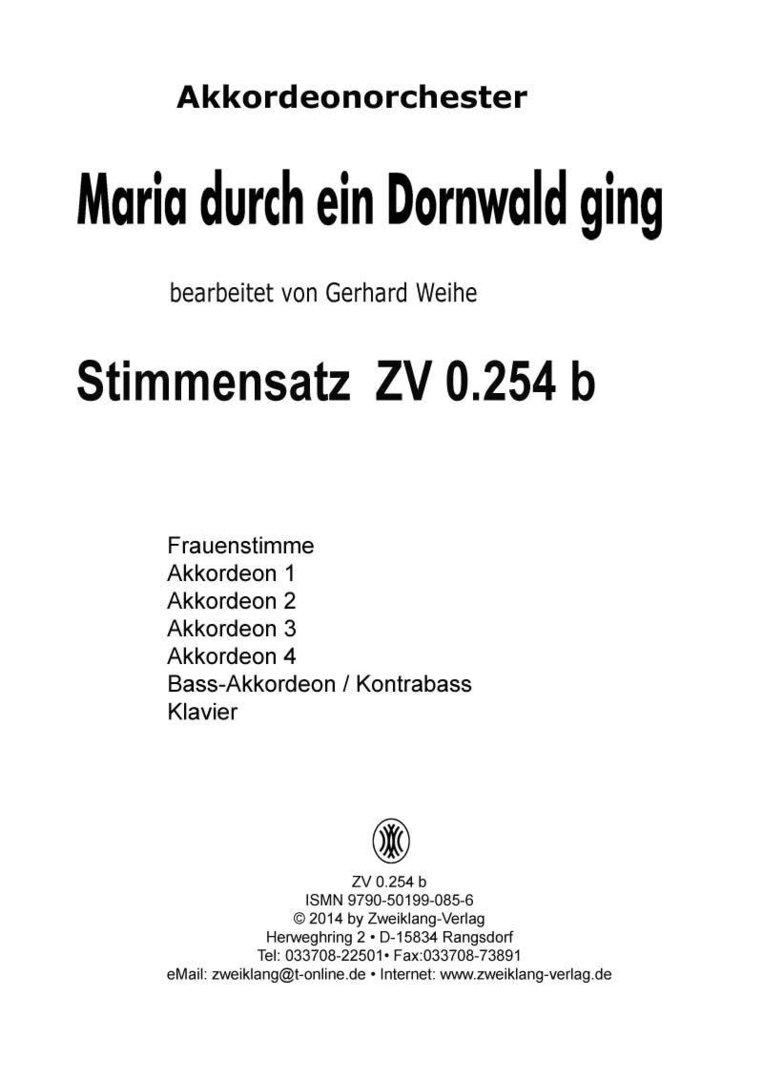 maria durch ein dornwald text